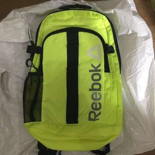 Authentic brand new Reebok neon green active backpack