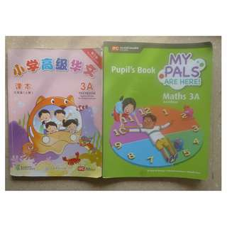 Primary 3 Chinese and Math Textbooks