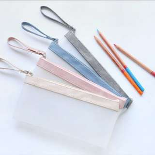 tumblr basic pastel pencil case