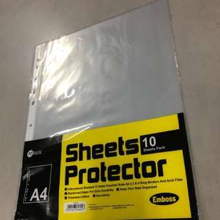 Sheet protectors and thin files