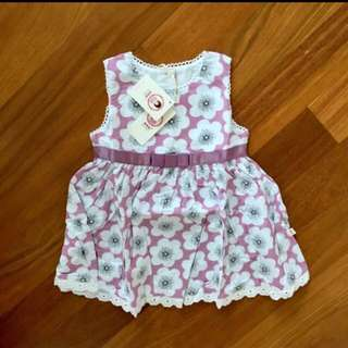 BNWT Lace Trimmed Lilac Twirl Dress 2-3T