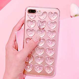 Iphone 7 / 8 heart clear case