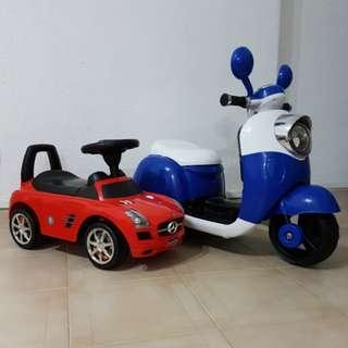 Ride On Mercedes Car & Electric Motor Bike