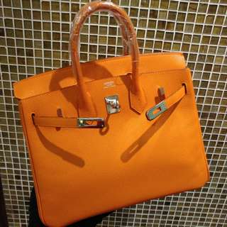 Hermes birkin 25 epsom orange