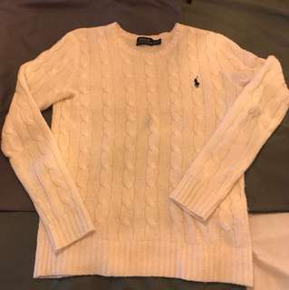 Polo Ralph Lauren Women Wool & Cashmere Classic Cable Knit Sweater - sized XS