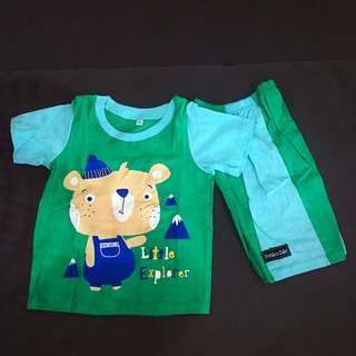 Toddler Boy Cute Bear Set Wear