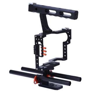 CS - V5 STANDARD 15MM ROD VIDEO STABILIZER ALUMINUM CAMERA CAGE RIG FOR MICRO DSLR 30.50 x 25.50 x 9.50 cm