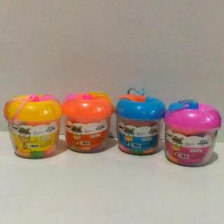 12 pcs. Colorful Clay In A Canister