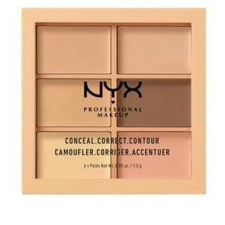 Nyx conceal, correct,contour pallette-light AUTHENTIC