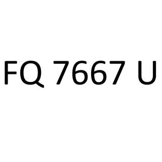 FQ 7667 U license plate number for sale