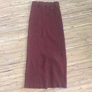 Uniqlo Wool Knit Long Skirt (Small)
