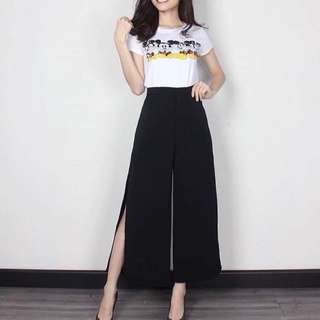 New cullote slit ready hitam putih