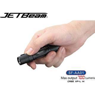 Jetbeam SF-AA01 CREE XP-L HI LED 700流明 LED Flashlight 電筒 ( AA, 2A, 14500 ) - 原裝正貨