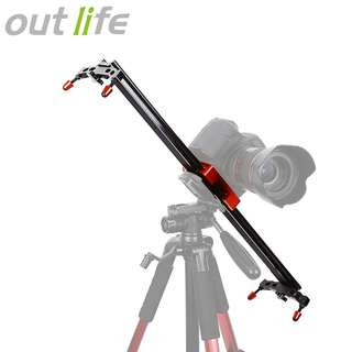 OUTLIFE WH60 - 1R 60CM ( 23.6 INCH ) DSLR DV CAMERA DAMPING TRACK DOLLY SLIDER VIDEO STABILIZER SYSTEM (RED) 60.00 x 4.90 x 1.60 cm