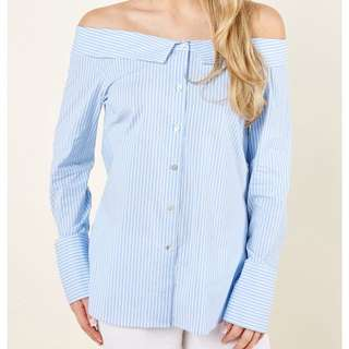 Off shoulder Sabrina shirt