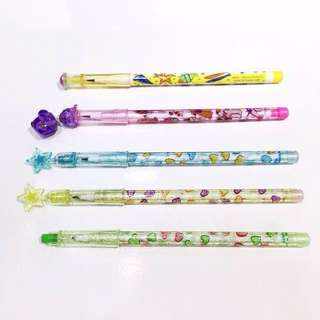 90s HK Vintage Glittery POP A POINT PENCILS 九十年代自動鉛筆