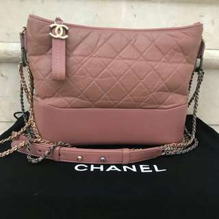 Preloved Chanel Gabrielle medium dusty pink #24-a3
