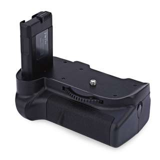 VELEDGE BG - 2G PROFESSIONAL CARTRIDGE STYLE VERTICAL CAMERA BATTERY GRIP FOR NIKON D5300 / D5200 / D5100 (BLACK) One Size