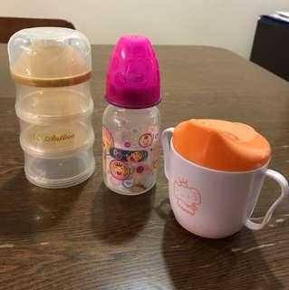 Milk bottle powder dispenser cup