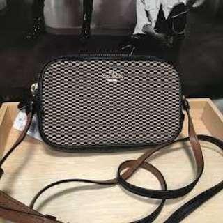 Coach F86217織布雙層拉鍊小包