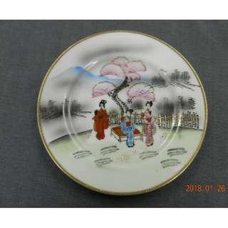 日本手繪餅碟