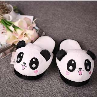 Lovely Cute Panda Women Female Winter Warm Slippers Soft Plush Anti-skid Indoor Home Cotton Slipper Shoes 25.5cm/10in