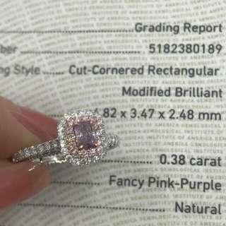 . 🦄 GIA證書 0.38卡 🐝 紫粉紅彩鑽 $39800 💖 . 😱 三萬幾就買到彩鑽 🌈 真係平到唔知點算 😝 🤩 即刻買返隻過新年 💋 為自己開個好開始 💰💰