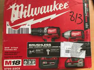Milwaukee M18 Combo Hammer/Impact Drill ( 2799-22CX )
