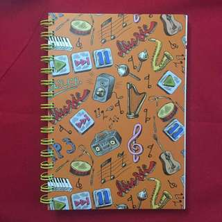 Music and Instruments Spiral Notebook