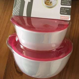 new oxo tot small and large bowl set pink