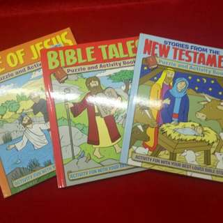 Bible puzzle and activity books