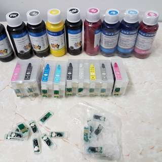Ink and cis for epson r3000 with extra chips