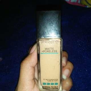 Maybelline fit me matte poreless foundation (TURUN HARGA)