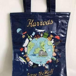 Harrods 藍色手挽袋