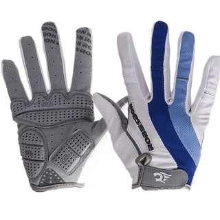 🆕! White & Blue full finger protective gloves for bicycle /Downhill mtb /Enduro Mountain bike /Fixed gear /road bike /Escooter/Motorcycle 🏍   #OK