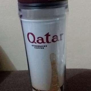 New Starbucks Collector's Item Qatar Insulated Travel Mug Limited Edition