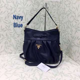 PRADA SLING BAG NAVY BLUE COLOUR
