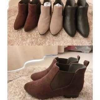 日單 啡色短靴 boot 再加舒適軟墊