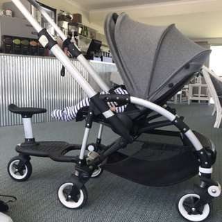Bugaboo bee 3 stroller with toddler scooter
