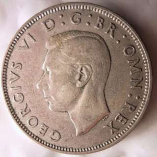 Great Britain: 1940 Florin Silver Coin - UNCOMMON TYPE
