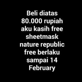 Free sheetmask