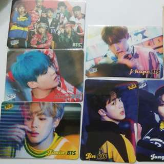 8張 BTS yescards