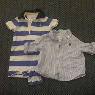 Authentic Ralph Polo boys jumpsuit and ahirt