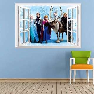 (2 design) Disny Frozn Princess Elsa+Olaf Wall Sticker decal