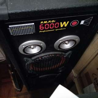Speaker with amplifier set left and right 6000w