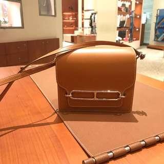 全新Hermes Roulis mini natural sable box leather (silver)