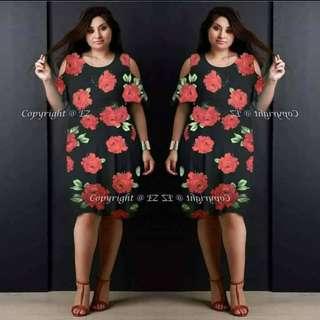 Plus Size Floral Dress ♥