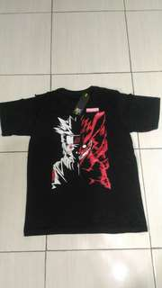 Kaos T-Shirt Distro Premium Anime Naruto Two Side