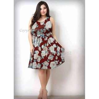 Plus Size Floral Dress 2 ♥
