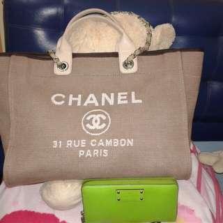 Chanel shoulder cotton bag